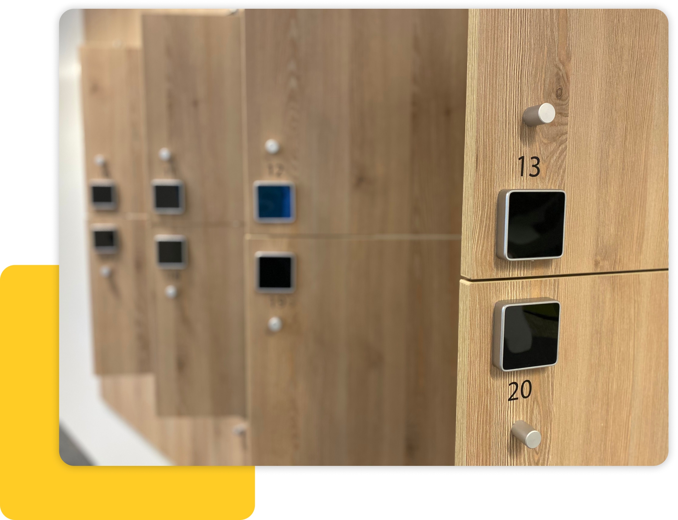 Yellowbox Lockers at Arcadis Offices